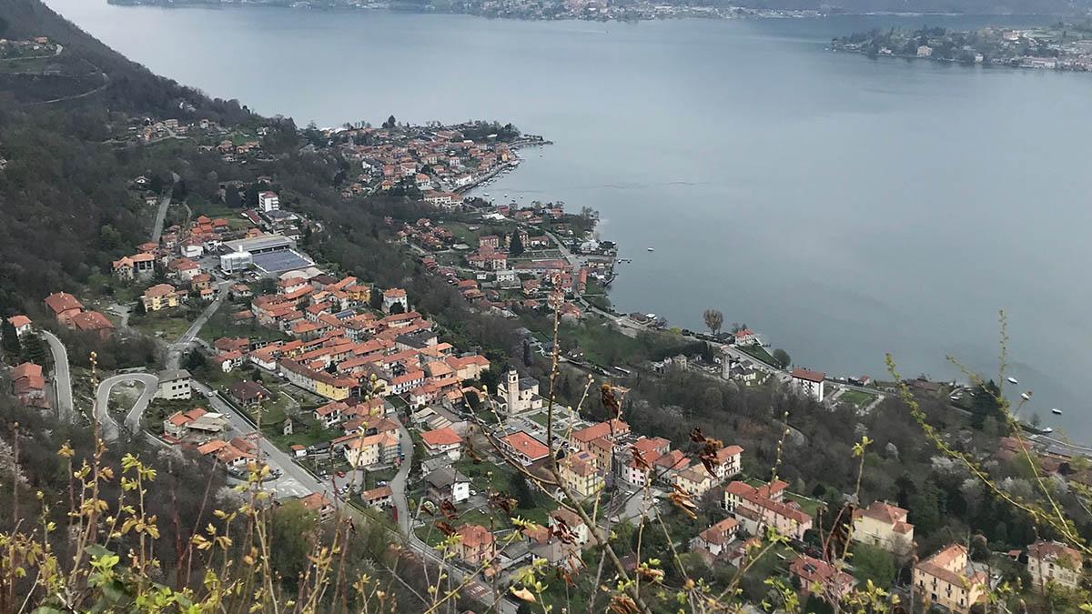 Fasten-Wandern am Ortasee/Lago Maggiore (Norditalien).